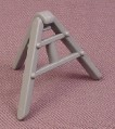 Playmobil Gray Tri-Pod Stand With Folding Legs For A Triangular Sign, 3001 3001 3745 3756 3777, Grey