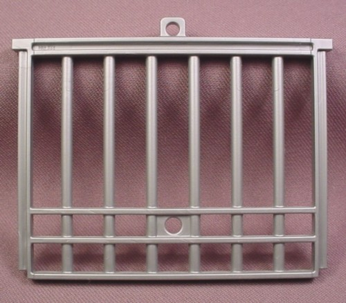 Playmobil Silver Gray Cage Door With Holes For Latch, 4175