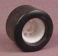 Playmobil Black Slick Rear Race Car Tire With White Hub, 3147