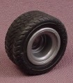 Playmobil Black Rubber Tire On Silver Gray Hub, 3216 4175 5801 5844