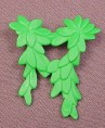 Playmobil Green Climbing Vine Extension With 2 Pegs On The Back, Leaves, 3015 3072 3120 3130 3134