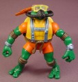 TMNT Deep Divin Michelangelo Action Figure, 2004 Playmates, Mike