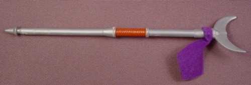 "TMNT Monk Fork Weapon Accessory for Combat Warrior Don Action Figure, 6 1/8 "" long, 2005"