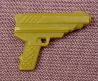 TMNT Green Pistol Gun Weapon Accessory for Ace Duck Action Figure, 1989 Playmates