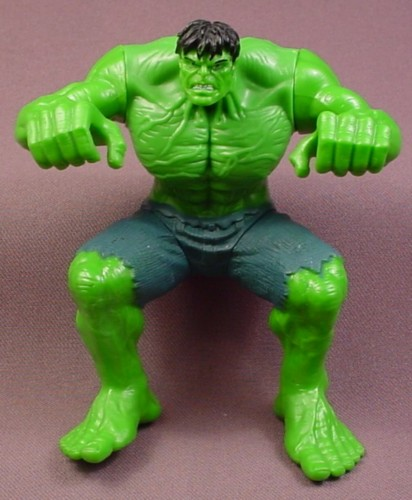 """The Incredible Hulk Action Figure in Sitting Position Pose, 4 1/4 """" tall, For Motorcycle"""