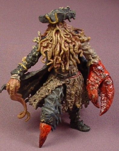 "Disney Pirates of The Caribbean Davy Jones Action Figure, 4 "" , 2006 Zizzle, Dead Man's Chest"