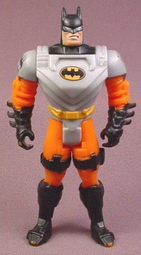 "Batman Bomb Control Action Figure, 4 3/4 "" tall, 1995 Kenner, Crime Squad Series 2"