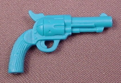 Cowboys of Moo Mesa Blue Pistol Weapon Accessory for The Cowlorado Kid Action Figure