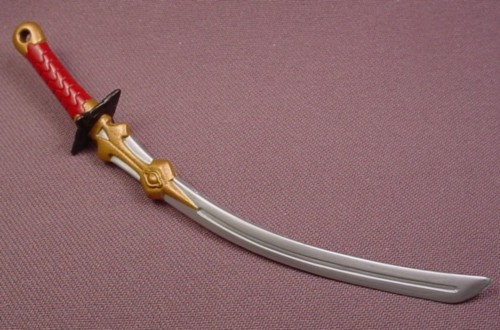 Jagun Fighters Sword with Red Hilt Weapon Accessory for Rugi Action Figure, 2003 Bandai