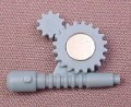 X-Men Gears with Metal Plate Accessory for Magneto Action Figure, 1991 Toy Biz, Series 1