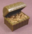 Medieval Castle Treasure Chest with Gold Coins, 2004 Blue Box Toys, For 4