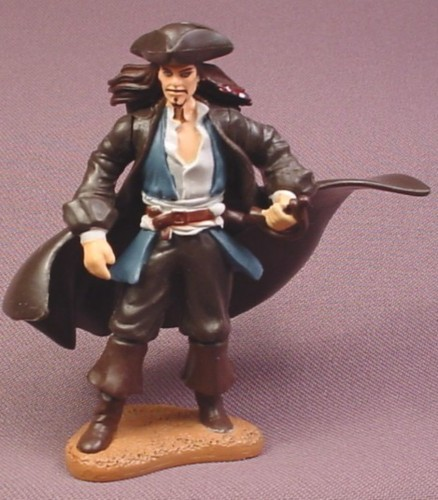 Disney Pirates of The Caribbean Jack Sparrow PVC Figure, 3 1/4 Inches Tall, Decopac