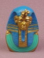 Egyptian Tutankhamen King Tut Bust PVC Figure, 1 1/2