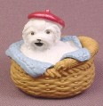 Puppy In My Pocket Maltese Dog PVC Figure, Carrie #108, 1995 M.E.G., Love N Sparkle