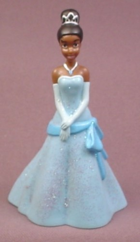 """Disney The Princess and The Frog Tiana in Glittery Blue Gown PVC Figure, 3 3/4"""" tall"""
