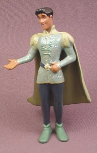 """Disney The Princess and The Frog Prince Naveen in Glittery Tunic PVC Figure, 4"""" tall"""