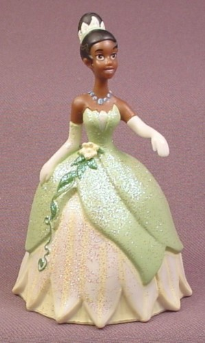 "Disney The Princess and The Frog Tiana in Glittery Green Gown PVC Figure, 3 3/4"" tall"