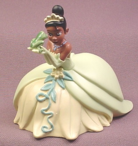 """Disney The Princess and The Frog Tiana With Frog PVC Figure, 3 1/4"""" tall, Decopac, #323630"""