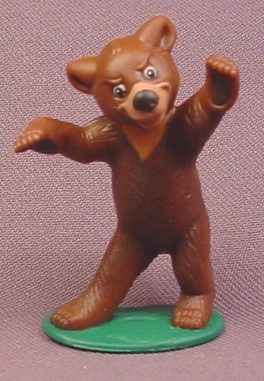 "Disney Brother Bear Coda The Bear Cub PVC Figure on Base, 2 1/4"" tall"