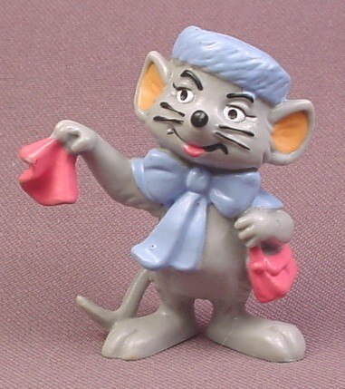 """Disney The Rescuers Vintage 1984 Bianca PVC Figure, 2 3/8"""" tall, Bully, W. Germany"""