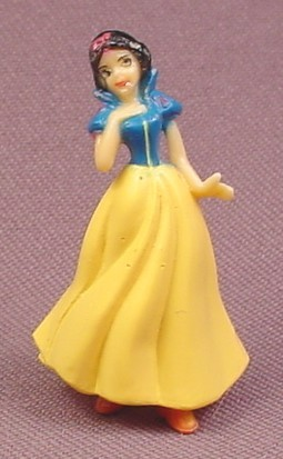 "Disney Snow White Hard Plastic Figure, 1 5/8"" tall"