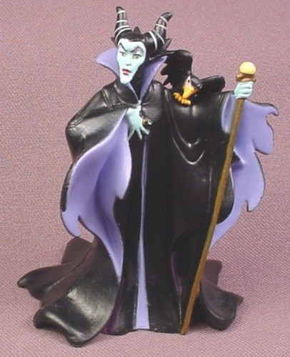 "Disney Sleeping Beauty Witch Villain Maleficent PVC Figure, 3 3/8"" tall"