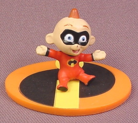 "Disney The Incredibles Jack Jack Baby PVC Figure on Base, 1 5/8"" tall"