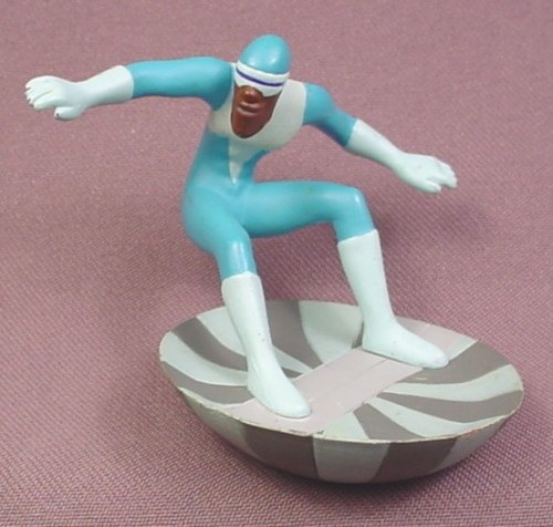 "Disney The Incredibles Frozone PVC Figure on Base, 2 5/8"" tall"