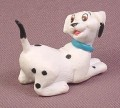 Disney 101 Dalmatians Puppy Looking At Tail PVC Figure with Blue Collar, 1 3/4