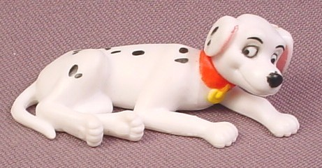 "Disney 101 Dalmatians Puppy In Laying Down Pose PVC Figure 2 1/8"" long"