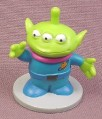 Disney Toy Story 3 Eyed Green Alien PVC Figure On A Round Gray Base, 2 Inches Tall, Figurine