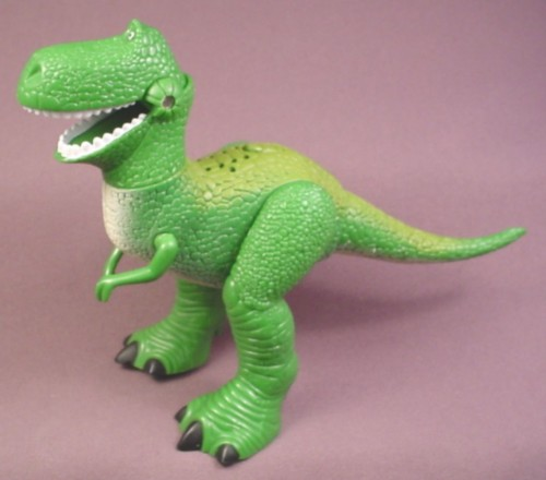 Disney toy story rex dinosaur roars when button is pressed 5 tall rons rescued treasures - Dinosaure toy story ...
