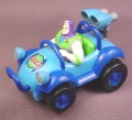 Disney Toy Story Buzz Lightyear in Rocket Car with Pull Back Motor, 4 1/2