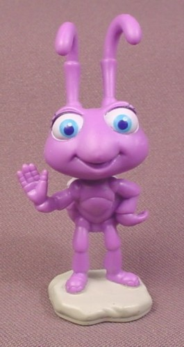 "Disney A Bug's Life Dot PVC Figure on Base, 3"" tall, Bugs Life"
