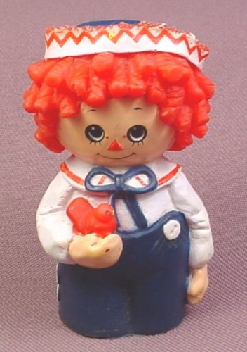 Raggedy Andy Soft Rubber Finger Puppet Figure, 2 3/4 Inches Tall, Bobbs Merrill, 1977 Vintage