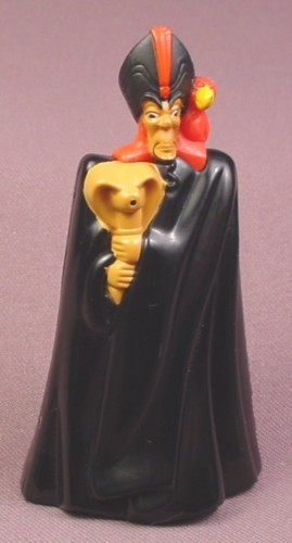 Disney Aladdin Jafar Toy With Spitting Cobra, 3 3/4 Inches tall, 2004 McDonalds