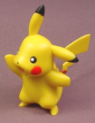 "Pokemon Pikachu Standing Pose PVC Figure, 3 1/8"" tall, 2007 Jakks"