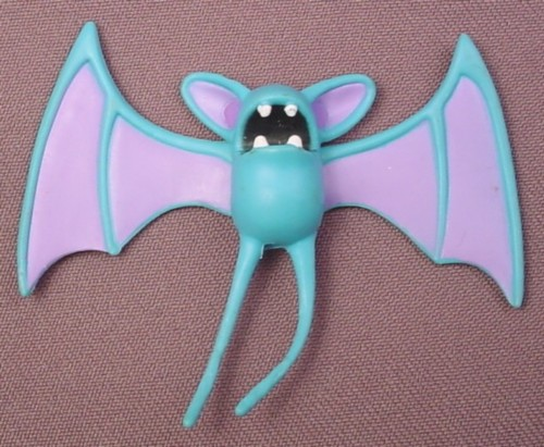 "Pokemon Zubat PVC Figure, 2 1/8"" tall, 2008 Jakks, Wings are Jointed"