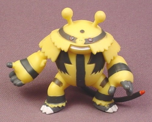 "Pokemon Electivire PVC Figure, 2 3/4"" tall, 2007 Jakks, Arms Legs & Tail are Jointed"
