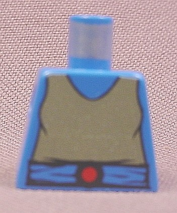 Lego 973p40, Blue Torso with Castle Breastplate Pattern, 6085 6086 0011 6060 10000 6073 6021 1584