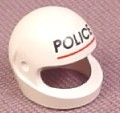 Lego 2446px2, White Modern Helmet with Police Pattern, 6636 6332 6344 6324 6348 5393 6326