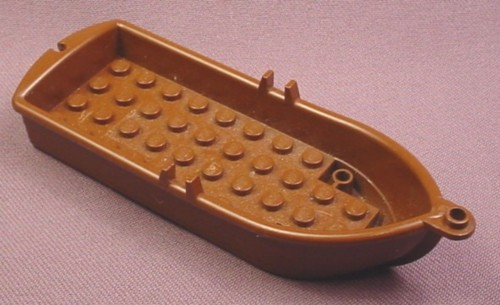 "Lego 2551, Brown Boat Rowboat 4 1/4 "" long, 6278 6290 6267 6270 6276 6258 6289 6279 6264 6292"