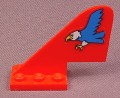 Lego 3587, Red Airplane Tail with Blue Eagle Sticker, 6615, Parts with Patterns, Eagle Stunt Flyer