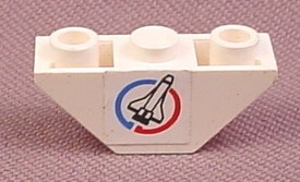 LEGO Lot of 2 White 3x1 Double Inverted Slope Pieces