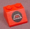 Lego 3039p68, Red Sloped 45 2x2 Brick with MTRON Logo Pattern, 5154 6862 6923 6956, Space