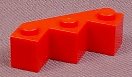 Lego 2462, Red 3x3 Facet Brick, 5988 6441 6949 2556, Adventurers Aquazone Space, Parts