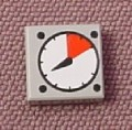 Lego 3070bp07, Medium Stone Gray 1x1 Tile with Dial Pattern, 8673 7633 7775 7636 6752 10219