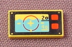 Lego 3069 1x2 RARE printed tile with Underwater Navigation Pattern 3069bpx11