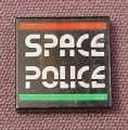 Lego 3068bp69, Black 2x2 Tile with Space Police II Pattern, 6984 5054 6957 3015 1916 6852 5121