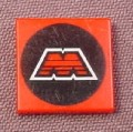 Lego 3068bp68, Red 2x2 Tile with Mtron Logo Pattern, 5154 6923 6956 6862 6989, Space Mtron